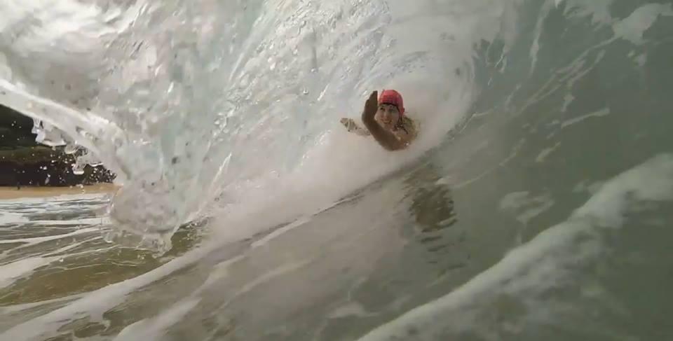 Bodysurfing takes strength & control